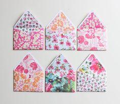 A Fabulous Fete: handmade envelopes + tag details