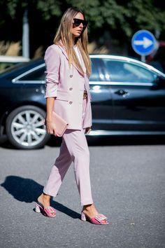 On the street at Milan Fashion Week. Photo: Mooez Ali