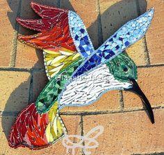 Hummingbird by Glasshoppers, mosaic