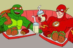 funny dc comic fan art 2013 | TMNT: Mikey and The Flash by *xero87 on deviantART
