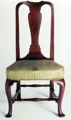 Side Chair, 1730-1765.  Unknown maker; Boston.  (1954.0543)