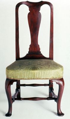 Side Chair, 1730-1765.  Unknown maker; Boston.  (1954.0543)