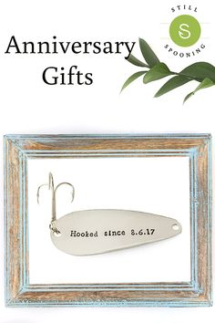 Anniversary gifts for boyfriend or girlfriend. 1 year, 2 year, 3 year, or any year! Add any date to this fishing lure for your favorite fisherman. Traditional Anniversary Gifts, Unique Anniversary Gifts, Boyfriend Anniversary Gifts, Boyfriend Gifts, Romantic Gifts For Her, Perfect Gift For Her, Romantic Ideas, Presents For Him, Gifts For Him