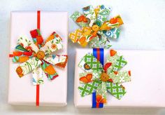 Gifting Inspiration - Fabric Bow Gift Wrap