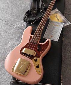 """1,659 Likes, 10 Comments - Bass Player Magazine (@bassplayermag) on Instagram: """"A Fender Jazz Bass in shell pink. @brunotauzin @fender #bassgram #instabass #bassporn #bassplayer…"""""""