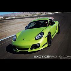 Porsche Cayman R on track. #porsche #exoticsracing #vegas