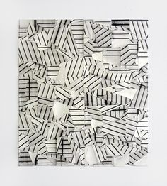 "artchipel:  Devin Powers - Puzzle. Oil on cut paper with artist tape & linen tape, 16"" x 14"" (2011) [Tumblr Monday with 1991]"