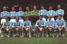 Man City team group in Football Program, Football Team, Man City Team, Typhoo, Football Images, Football Trading Cards, Retro Football, Classic Image, Team Photos
