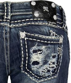 Miss Me Blowout Pocket Boot Stretch Jean.... Kinda cute!