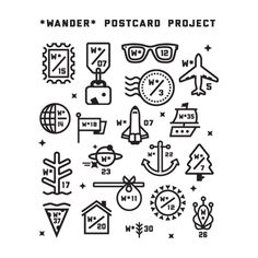 Wander Postcard Project // icons