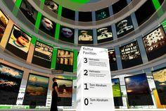Kulturpavilion im Apfelland Airport - Second Life eignet sich perfekt für virtuellen Ausstellungen, Lesungen und Events