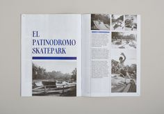 Issue of Cuba Skate's 'zine. Principal typeface: Galea, designed by Isabel… Editorial Layout, Editorial Design, Presentation Design, Presentation Templates, Book Design, Layout Design, Magazine Spreads, Business Proposal, Publication Design
