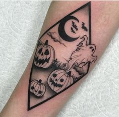 Halloween ghost tattoo