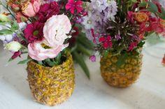 How To + DIY Pineapple Vase