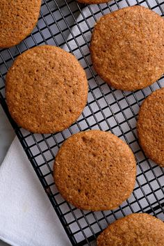 NYT Cooking: Think of these cookies as a cross between a gingerbread man and a chewy molasses cookie. Adding molasses gives them a softer texture with a decidedly adult, almost caramel flavor. Instead of rolling or slicing these cookies, this rich, soft dough is perfect for rolling into balls and coating in coarse sugar before baking. The dough can even be made up to 5 days ahead...