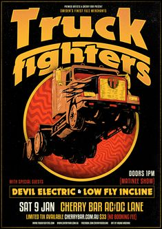 Extra gig in Melbourne Saturday afternoon! Truckfighters