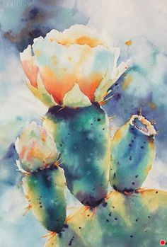 IMG_2177 sm by Yvonne Joyner Watercolor ~ 28 x
