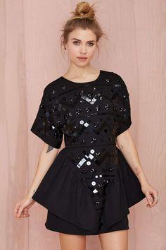 Nasty Gal Short Work Sequin Dress