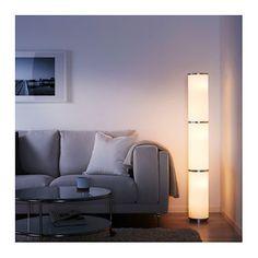 IKEA VIDJA floor lamp The textile shade provides a diffused and decorative light.