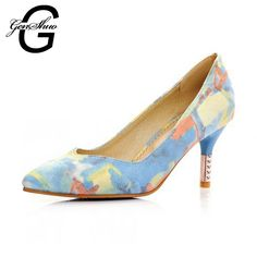 Aliexpress.com : Buy Women Pumps Floral High Heels Shoes Woman Pointed Toe High Heels Blue Pink Wedding Shoes Heels Womens Shoes from Reliable shoes for thin feet suppliers on GuangZhou GenShuo Trading CO.,LTD  | Alibaba Group