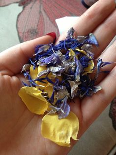 Blue and Yellow petals from The Real Flower Petal Confetti Company