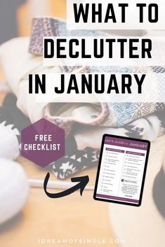 Let's kick off the year by downloading the FREE checklist with 12 things to declutter in January! This short list of things to declutter is easy enough to build momentum and help you on your journey to reach your decluttering goals this year. Declutter Your Home, Organizing Your Home, Simple Blog, Make It Simple, January Sign, Minimalist Living, Feeling Overwhelmed, Months In A Year, Decluttering