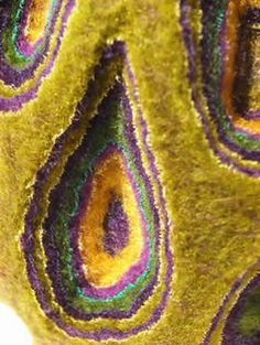 Fiber art detail by Yukako Sorai Fabric Textures, Textures Patterns, Nuno Felting, Needle Felting, Fabric Art, Fabric Crafts, Felting Tutorials, Textile Artists, Felt Art