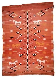 Red Rugs Navajo Rug as a wall hanging