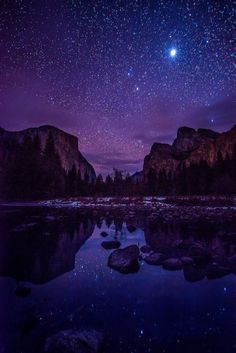 Yosemite Valley by Starlight (by Darvin Atkeson)