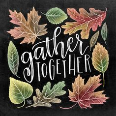 Gather Sign Fall Decor Chalkboard Art Chalk Art by TheWhiteLime