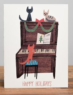 Christian Robinson for Red Cap Cards - Kitty Carols
