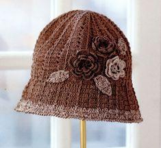 코바늘 모자 / 꽃이 예쁜 코바늘 챙 모자 도안 Crochet Hats, Beanies, Funny, Fashion, Hat, Tutorials, Knitting Hats, Moda, Beanie Hats