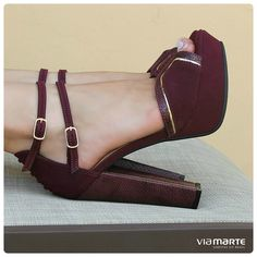 salto alto - bordô - salto quadrado - sandália - party shoes - heels - Marshala - Inverno 2015