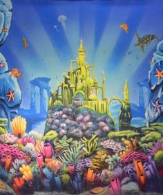 Underwater Mermaid Castle GROSH BACKDROPS Unders...