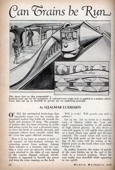 Can Trains be Run by Perpetual Motion   Modern Mechanix