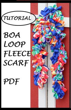 PDF Tutorial   Fleece Boa Loopy Scarf by TheSassySewer on Etsy, $3.50