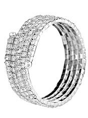 Bridal Bracelets | Silver Stretchable 4 Row Coil Rhinestone Wedding Bracelet http://www.2-be-unique.com/silver-stretchable-4-row-coil-rhinestone-wedding-bracelet.html
