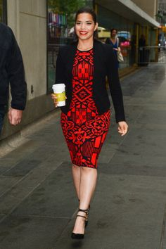 America Ferrera in NYC. Hair by Renato Campora. Makeup by Linda Hay. Styled by Karla Welch.