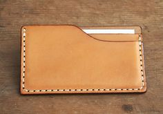 Vegetable tanning leather business card holder made by japanese craftman[nouki]【Card Case】