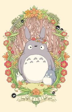 Flower Crown Totoro 18 x 24 PrintYou can find Totoro and more on our website.Flower Crown Totoro 18 x 24 Print Hayao Miyazaki, Studio Ghibli Art, Studio Ghibli Movies, Manga Anime, Anime Art, Girls Anime, Anime Kunst, My Neighbor Totoro, Animal Tattoos