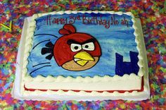 Angry Birds sheet cake
