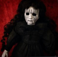 Bastet2329 OOAK Creepy Mourning Death Metal Doll with no eyes