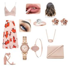 """""""Rose Gold Love"""" by a-chavez9 on Polyvore featuring Ganni, Allurez, Michael Kors, Kendra Scott, Kate Spade and Raye"""