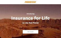 Finally! Progress is now offering life insurance on Mars.