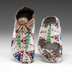 Sioux Fully Beaded Hide Moccasins (9/26/2014 American Indian: Live Salesroom Auction)