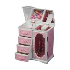 Mele Robin Glitter-Daisy 1 Door Musical Dancing Ballerina Jewelry Box - 8.25W x 8.75H in.,