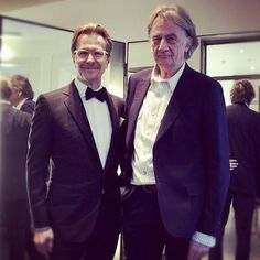 Paul fitting Gary Oldman's suit for the 2012 Oscars