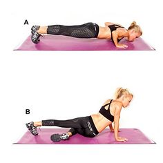 Push-up plank with alternating hip drop #workout | Health.com