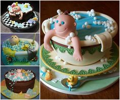 Baby Shower Tub Cakes