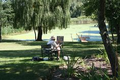 Artist painting the pond | Flickr - Photo Sharing!